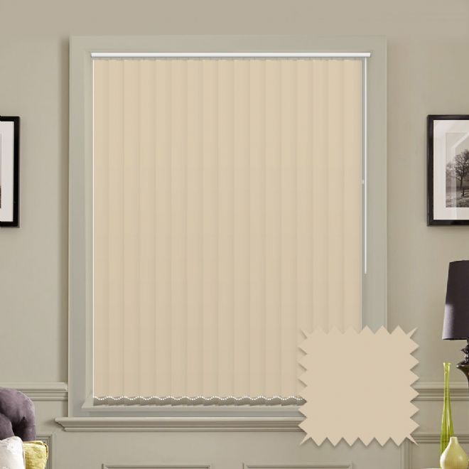 Unicolour Beige 5 inch Vertical Blinds - made to measure - Just Blinds